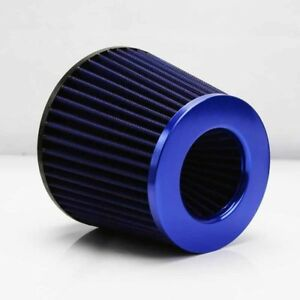 4 Universal High Flow Short Ram Cold Air Intake Filter Blue Duo Mash Washable