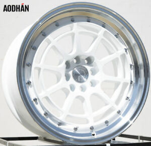 Aodhan Ah04 17x9 25 4x100 4x114 3 White 240sx S13 Civic Accord Prelude Xb