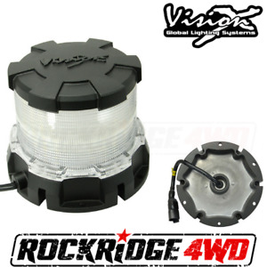 Vision X Heavy Duty Led Beacon White Snow Plow Construction Equipment Mining