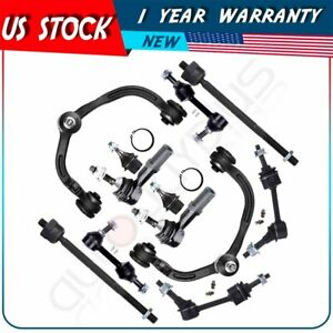 12pc For 2003 2005 Lincoln Navigator Front And Rear Suspension Kit Ball Joint
