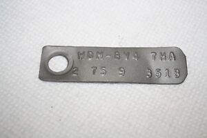 Ford 9 Inch 2 75 Open Rear End Id Tag Mustang