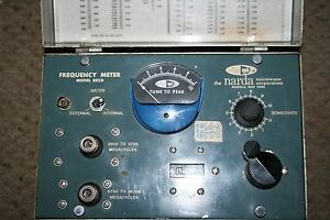 Narda Frequency Meter Model 802b