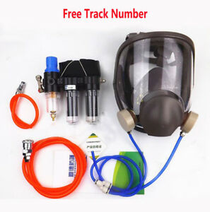 3 In 1 Spray Painting Supplied Air Fed Respirator System 6800 Full Face Gas Mask