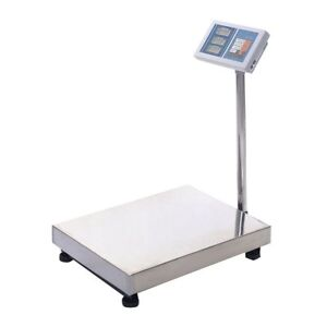 Weight Computing Digital Floor Scale 660 Lbs Postal Animal Vet Shipping Portable