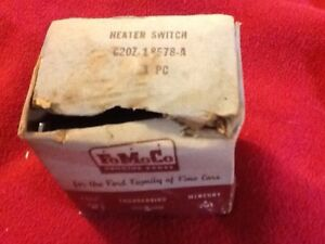 62 63 64 Fairlane 500 Nos Oem Ford C2oz 18578 A Switch Assy Heater