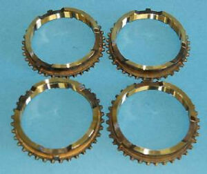 New Mopar Style Synchronizer Stop Rings Late 1970 up Lug Style Set 4