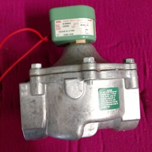 Asco red Hat 2 Air And Fuel Gas Solenoid Valve Normally Closed 120 V 4d