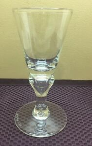 Vintage Reijmyre Wine Drinking Clear Glass Signed 1989 A218h