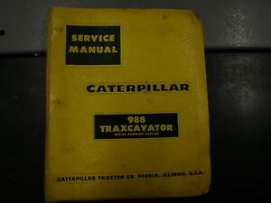 87 Caterpillar Service Manual 933 Traxcavator Crawler Loader Cat Repair 42a1 u