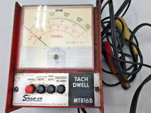 Vintage Snap On Tach Dwell Meter Mt816b