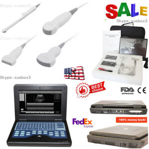 Fda Portable Diagnostic Machine Ultrasound Scanner Ultrasonic Cms600p2 3 Probes