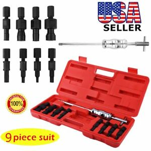 9pc set Blind Hole Pilot Bearing Gear Puller Slide Hammer Removal Repair Kit Max