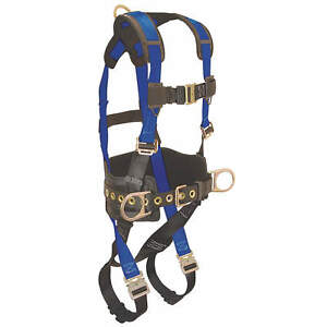 Condor 45j273 Blue Black Full Body Safety Harness Size Large 450lb Capacity