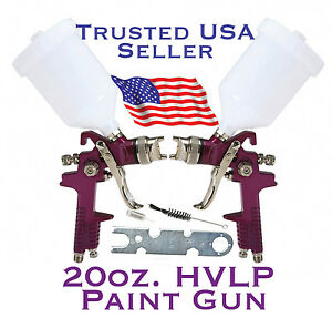20 Oz Hvlp Gravity Feed Paint Spray Gun Air Tool auto Body Shop Home Furniture