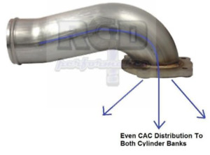 River City Diesel Egr Delete Stainless Intake Elbow 08 10 6 4l Ford Powerstroke