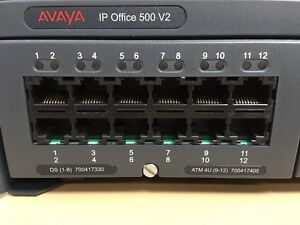 Avaya Ip Office 500 V2 Control Unit 700417330 700417405 Nice Condition Untest