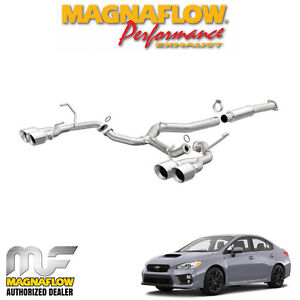 Magnaflow 3 Cat Back Dual Exhaust Fits 2015 2018 Subaru Wrx 2 0l Turbo 19361