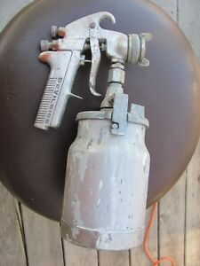 1 Vintage Devilbiss Spray Gun Model Type Jga 502 Tip Usa Made W Can Canister