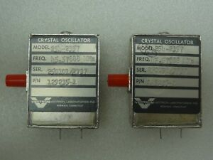 Lot Of 2 Vectron Model 254 2357 Crystal Oscillators P n 129235 1 45 57888 Mhz