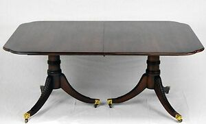 Statton Old Towne Solid Cherry Duncan Phyfe Style Dining Table W 4 Leaves