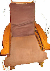 Traditional Oak Morris Rocking Chair With Spindles 2 Reclining Adjustments