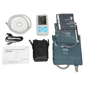 Ambulatory Blood Pressure Monitor With 3 Cuffs 24hours Nibp Holter Software fda
