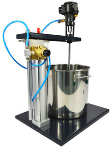 Guide Rail Type 5 Gallon Pneumatic Paint Mixer With Stand Tank Barrel Tool