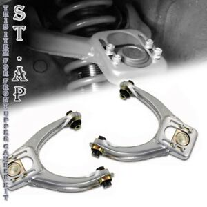 96 00 Honda Civic Ek Jdm 2pc Adjustable Front Upper Camber Suspension Kit Sliver