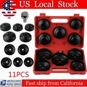 10pc Universal Oil Change Filter Cap Ratchets Wrench Cup Socket Tool Set Auto Mx