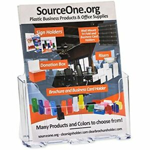 Index Card Filing Source One Premium Universal 8 5 11 Inches Brochure Holder 16