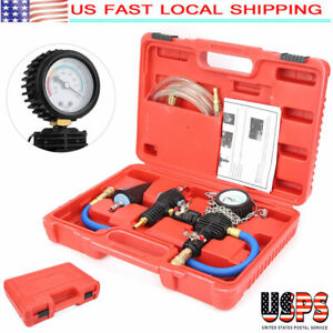 Vacuum Purge Cooling System Radiator Pressure Tester Refill Tool Kit W case Us