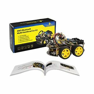 Robot Arduino 4wd Bluetooth Multi functional Smart Car Kit Uno R3 And Tutorial