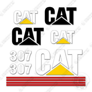 Caterpillar 307 Excavator Decals Reproduction