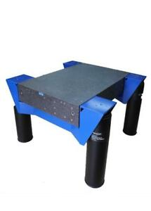 Newport Granite Vibration Isolation Table Ultra Flat 1 Micron 62 X 42 X 9 Legs