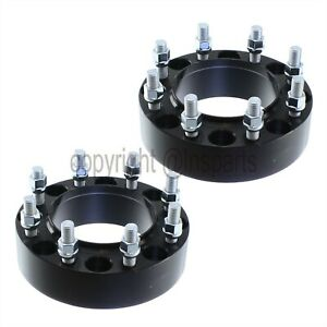 2pcs Hubcentric Black 8x170 Wheel Spacers For Ford F250 F350 Trucks Superduty 2