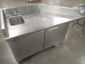 Randell Commercial Corner Stainless Hand Sink And Prep Station