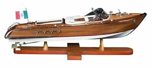Riva Aquarama Exclusive Edition Speed Boat 25 2 Wooden Model Ship Assembled