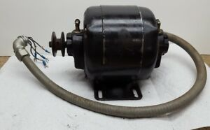 Vtg Ge Electric Motor For 9 South Bend Metal Lathe Furnas Switch V Belt Pulley