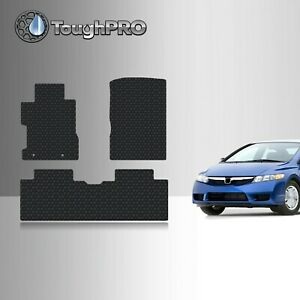 Toughpro Floor Mats Black For Honda Civic All Weather Custom Fit 2006 2011