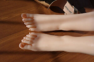 New Design top Quality Silicone Female Egypt Foot Display Model Art Sketch 1pair