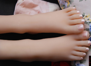 Top Quality Silicone Cute Girls Clone Feet Mannequin Display Shoes socks