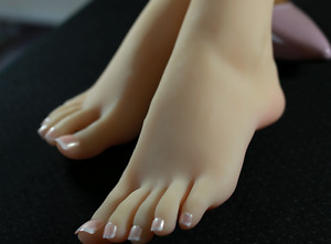 Top Quality Silicone Female Feet Shoes Displays Model Mannequin High Arch 1 pair