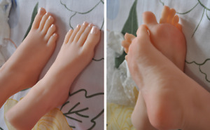 Lifelike Top Quality Silicone Girl Feet Mannequin Arbitrarily Bent posed soft