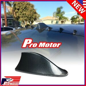 Universal Carbon Fiber Print Shark Fin Antenna Aerial Auto Roof Decorative Cover