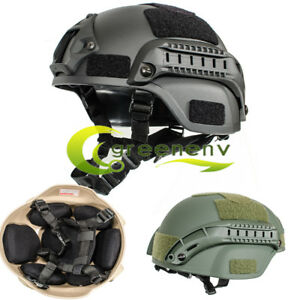 Military Tactical Combat MICH2000 Simplified Action Hunting Helmet w Airsoft US