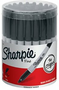 Fine Point Permanent Marker Black canister With 36 Pens Quick drying Ink