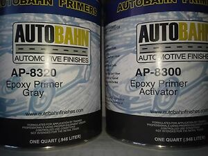 Epoxy Primer Sealer And Catalyst Gray 2 Gallon Kit Direct To Metal Car Auto