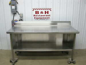 72 Universal Stainless Steel Heavy Duty Kitchen Cabinet Work Prep Table 6 x30