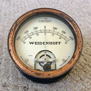 Vintage Weidenhoff 600 Amperes Meter Jewell Electrical Instrument Co Rare