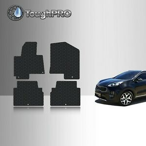 Toughpro Heavy Duty Black Rubber Custom For 2017 2019 Kia Sportage Floor Mats